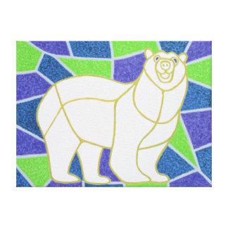 Polar refiera el vitral impresión en lienzo estirada