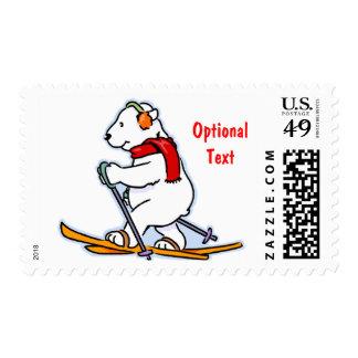 Polar refiera los esquís - personalizable sello postal