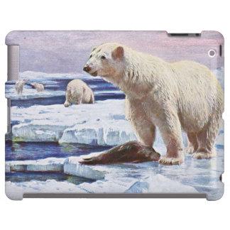 Polar refiere arte de las masas de hielo flotante funda para iPad