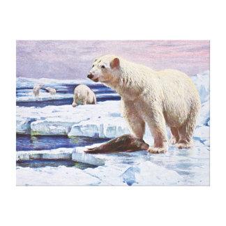 Polar refiere arte de las masas de hielo flotante impresión de lienzo