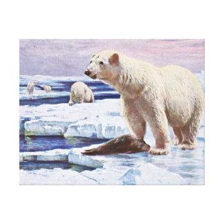 Polar refiere arte de las masas de hielo flotante impresion de lienzo