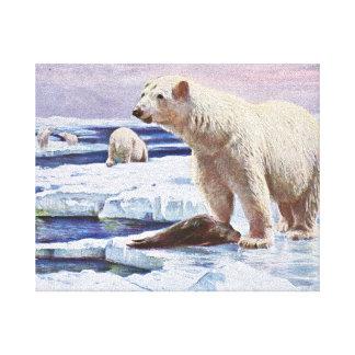 Polar refiere arte de las masas de hielo flotante lona envuelta para galerias