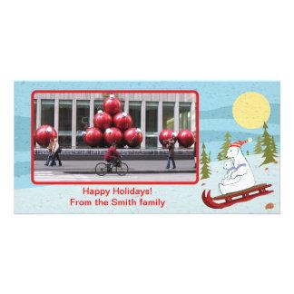Polar refiere el trineo tarjetas con fotos personalizadas