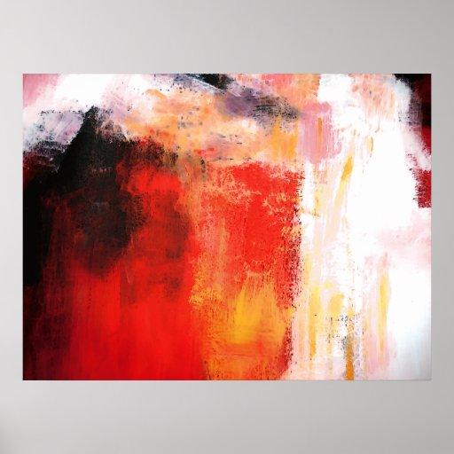 Polar rojo - poster del arte abstracto