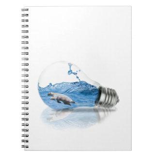 Polar Spiral Notebook