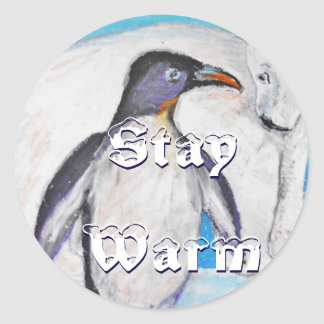 Polar Stay Warm Classic Round Sticker