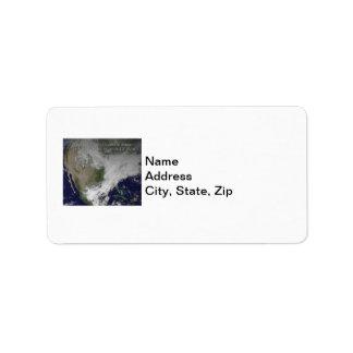 Polar Vortex 2014 North American Cold Wave Custom Address Labels