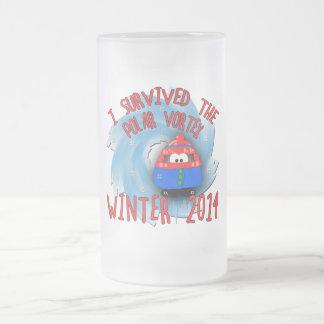 POLAR VORTEX 2014 Winter 16 Oz Frosted Glass Beer Mug