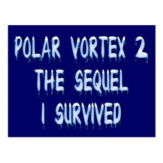 Polar Vortex 2 the Sequel - I Survived Postcard