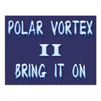 Polar Vortex II Bring it on Postcard