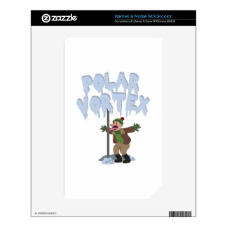 Polar Vortex NOOK Color Decal