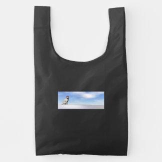 Polar white bear for christmas - 3D render Reusable Bag