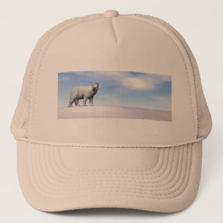Polar white bear for christmas - 3D render Trucker Hat