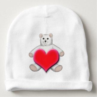 Polar White Teddy Bear Baby Hat