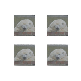 PolarBear20150501 Stone Magnet