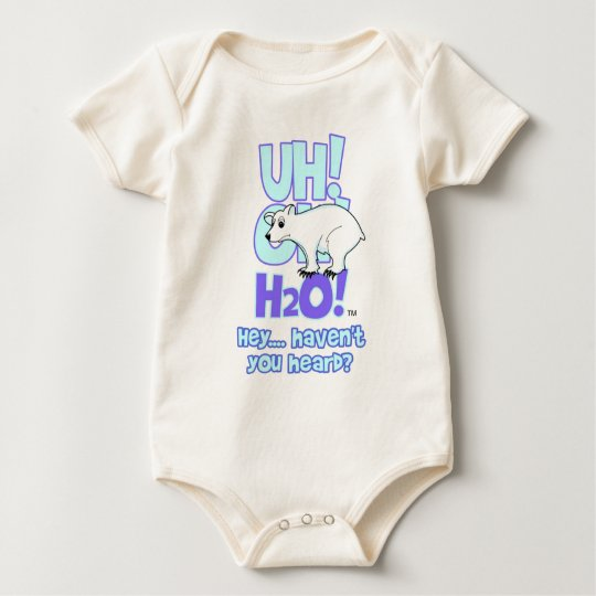polarbear front (Z) Baby Bodysuit