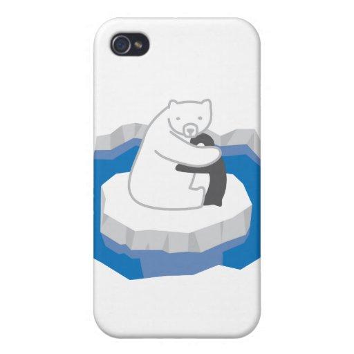 Polarbear y su mejor amigo iPhone 4/4S fundas