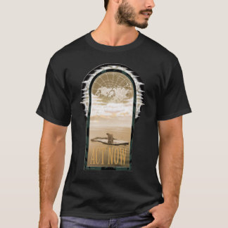 PolarBearOnBlackA T-Shirt