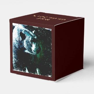 Polares hermosos refieren el fondo negro cajas para detalles de boda