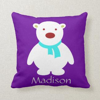 Polares lindos refieren púrpura y la almohada de