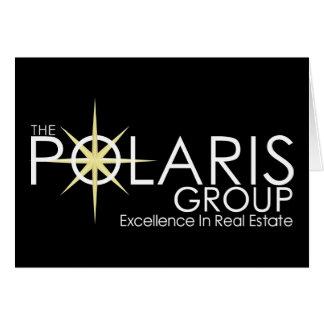 Polaris logo & tagline on black card