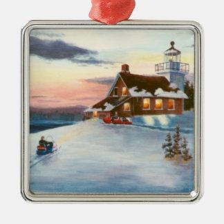 Polaris Sunset Lighthouse Ornament