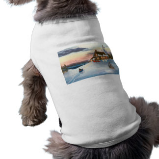 Polaris Sunset Pet Portrait Doggie T Shirt