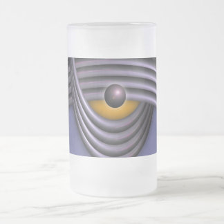 polarity frosted glass beer mug