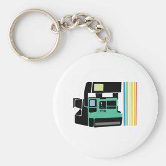 Polaroid Camera Basic Round Button Keychain