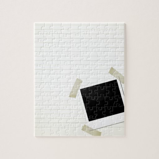 polaroid en una página rompecabezas