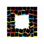 Polaroid frame- colorful polaroids postcard