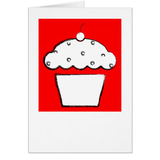 polaroid grunge cherry cupcake card