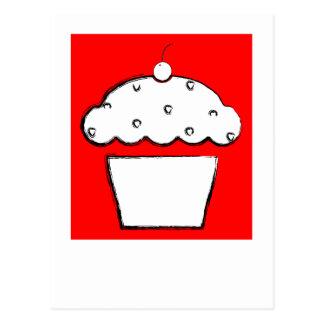polaroid grunge cherry cupcake postcard
