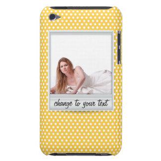 Polaroid on white sunny yellow polkadot iPod touch case
