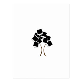 Polaroid tree postcard