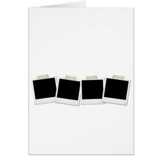Polaroides pegadas tarjeta de felicitación