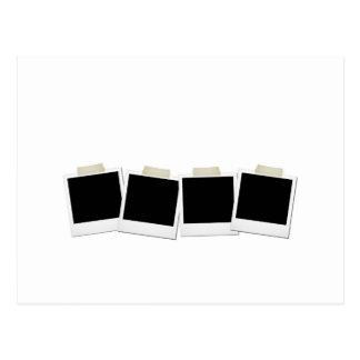 Polaroides pegadas tarjetas postales