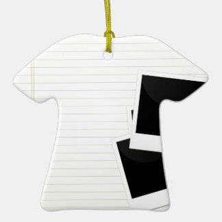 Polaroids on a single lined paper Double-Sided T-Shirt ceramic christmas ornament
