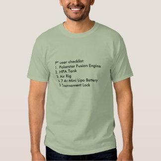 Polarstar User Checklist T Shirt