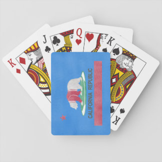 Polat Bear in Cali Funny Illustration Playing Cards