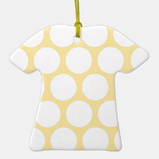 Polca amarilla doty adorno de cerámica en forma de playera