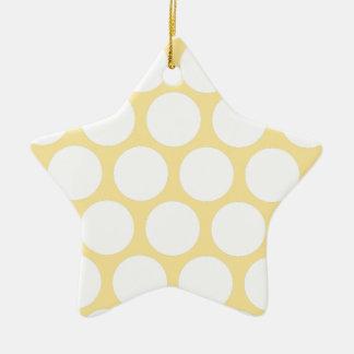 Polca amarilla doty adorno de cerámica en forma de estrella