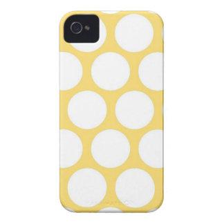 Polca amarilla doty iPhone 4 Case-Mate funda