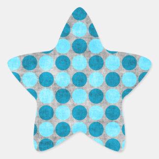 Polca apenada azul punteada pegatina en forma de estrella
