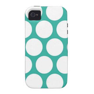 Polca azul doty vibe iPhone 4 carcasas