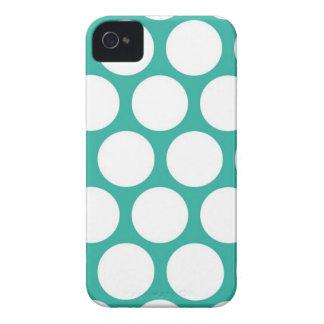Polca azul doty Case-Mate iPhone 4 fundas