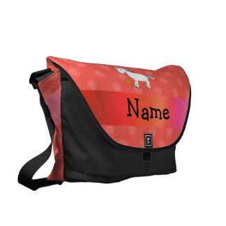 Polca conocida personalizada del naranja del unico bolsa de mensajeria