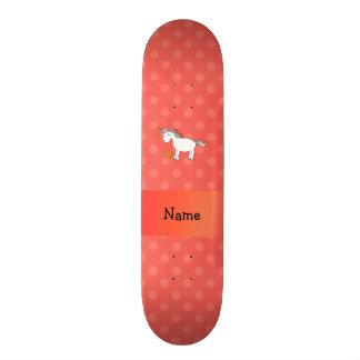 Polca conocida personalizada del naranja del unico tabla de patinar