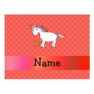 Polca conocida personalizada del naranja del unico tarjeta postal