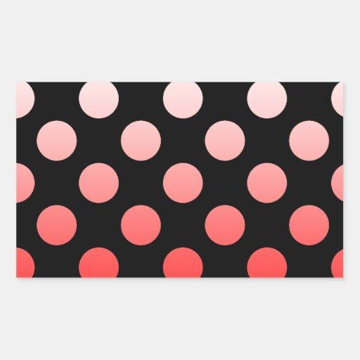 Polca del color punteada rectangular pegatinas